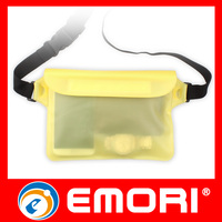 2015 Gifts PVC Waterproof Mobile Phone Bag With Waist Strap For Diving