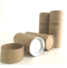 Biodegradable round kraft paper cardboard tube for packaging