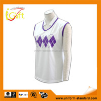 ISO9001/BSCI Manufature tailored made tennis moisture wicking sports vest