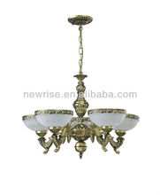 Christmas Promotion antique brass color glass European chandelier