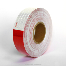Red and White Truck Reflective Stripe for Safety Warning Tape