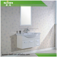 Queen-bath JR-8001 factory price Chinese made metal legs bathroom vanity