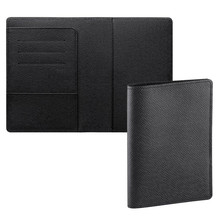 Luxury saffiano leather rfid passport wallet