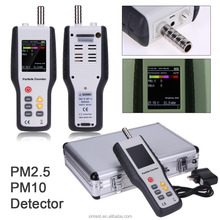 HT-9600 PM2.5 Detector Particle Monitor Laser Dust Humidity Meter Air Analyzer With Power Adapter and Metal Box