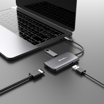 Multi-Port USB C adapter with 4K and USB 3.0 HUB FOR MACBOOK