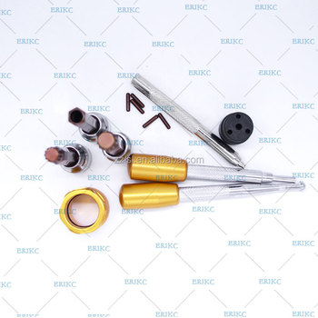 8PCS Valve Plate Remove Tools Common Rail Injector Repair and Injection Sealing Rings Device for Bosh denso injector