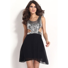 MS62258W 2015 women sexy sequin dress high end apparel