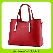 15599 China manufacture lady tote leather bag waterproof women handbag