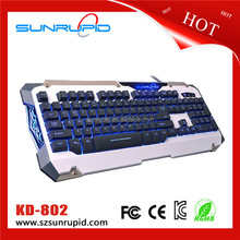 RGB LED Backlit Mechanical Tactile white switchs Gaming Keyboard