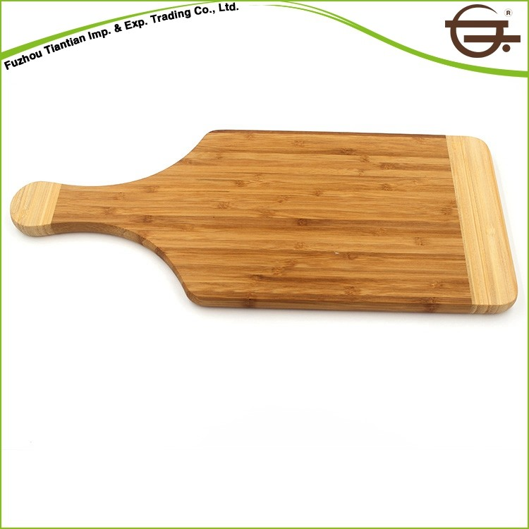 China Kitchen Rectangle Wine Bottle Bamboo Cutting Board