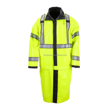 adult yellow raincoat police raincoat high visibility reflective raincoat
