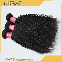 Fashion Kinky Curly Remy Hair Weave Kinky Curl Expression Hair Extension