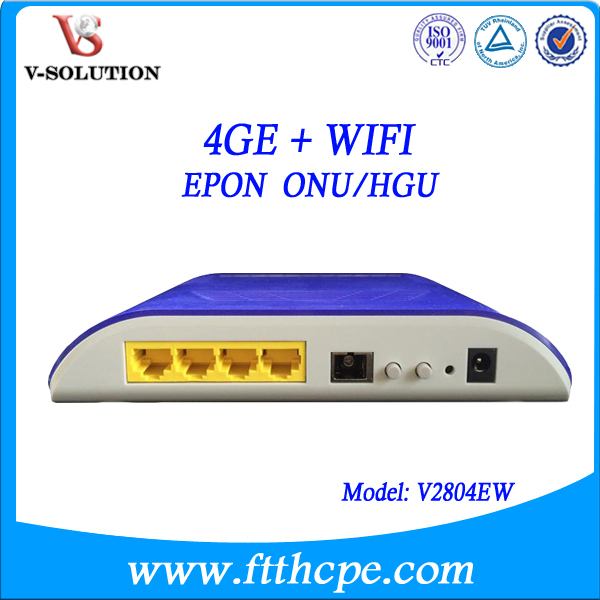 WiFi home gateway 4 GE port EPON ONU compatible with Dasan OLT