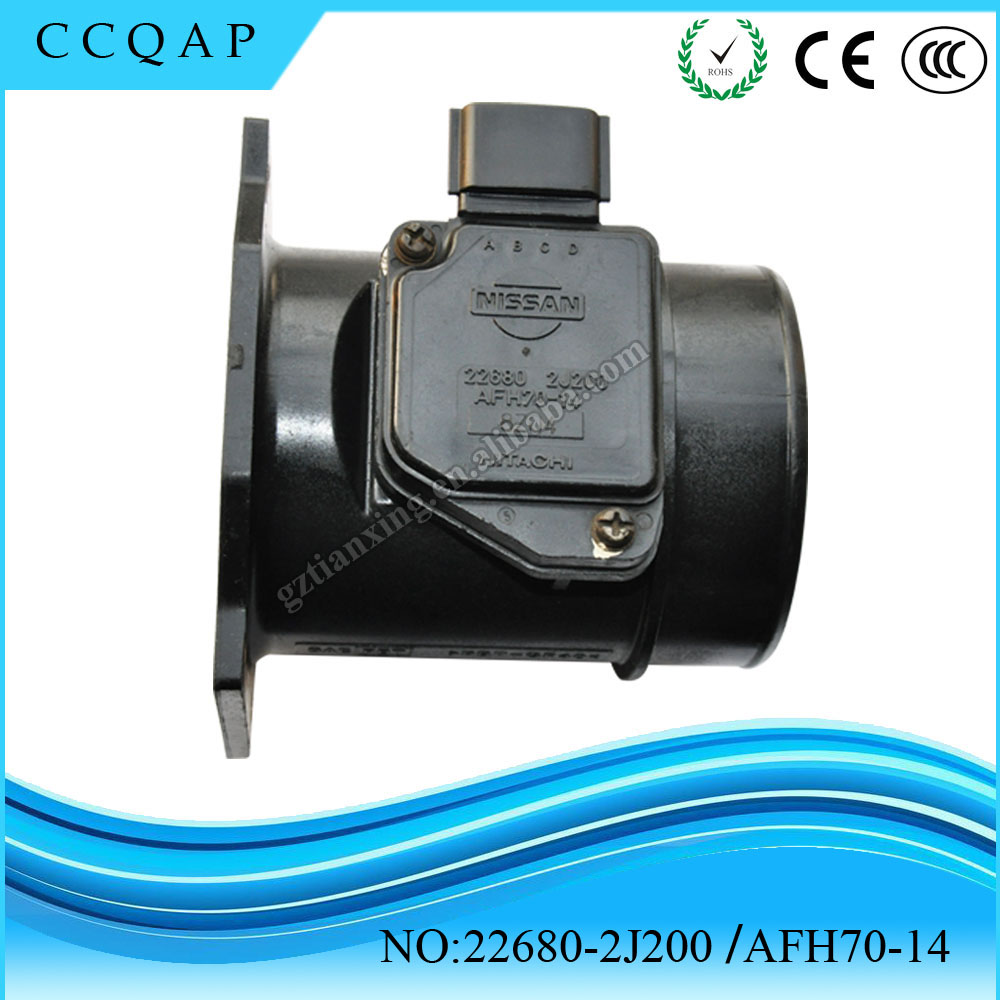 22680-2J200 AFH70-14 Wholesale price auto mass digital compressed air flow meter assy for japanese cars Pathfinder Infiniti