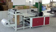 Hot seal and cool cut bottom sealing plastic bag making machine
