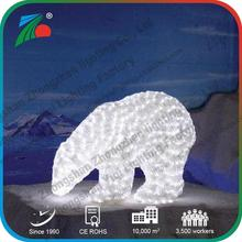 Christmas holiday Popular Outdoor Decoration 3D mother baby polar BEAR motif light