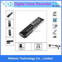 New 8GB Multi-function USB Mini Digital Audio Voice Recorder Dictaphone MP3 Player+Support Telephone recording Built-in Battery
