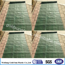 China manufacturer pp weed mat with green line, customized size garden fabric, various use ground cover mesh