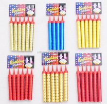 high quality 10 12 15 18 20 30cm 18 20 25 30 35 50s happy birthday cake candle cold fireworks/Indoor party firewor for wholesale