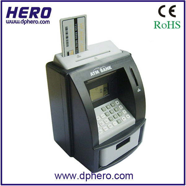 ATM mini coin money saving box, ATM piggy bank
