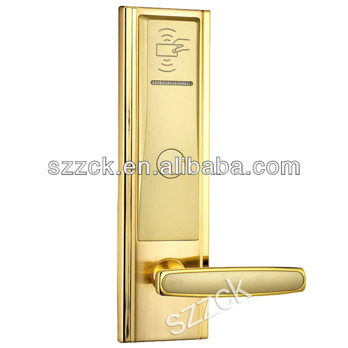 all zinc alloy hotel door lock smart digital card physical key door lock