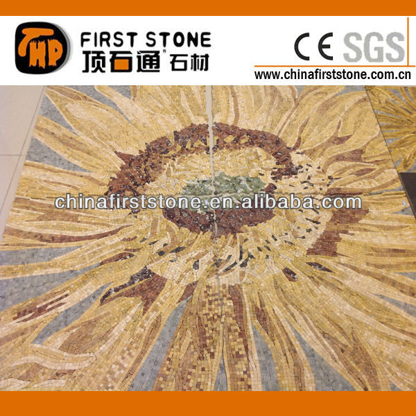 Mixed Stone Mosaic Art Pattern
