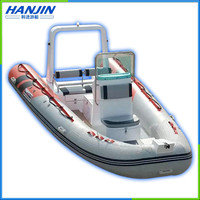 2016 hot-sale inflatable fiberglass used rescue boat for sale