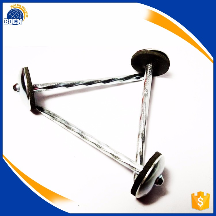 BOCN Low Carbon Harded Steel galvanized roofing nail