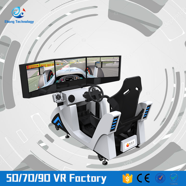 Folding three screens road show car driving simulator cool car simulator game machine