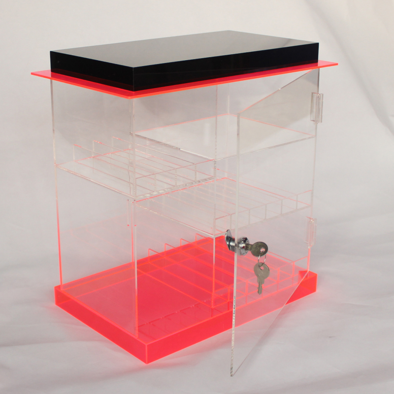 Tinya alibaba online store custom acrylic e-liquid show case display shelf PMMA e liquid rack for electronic cigarette