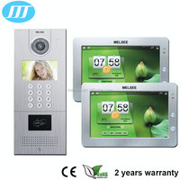 Hands-free 7inch LCD color touch screen Digital ip video door phone for multi apartment