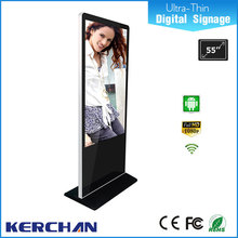 Ultra slim Android OS 55 inch LCD web based indoor advertising tv screen