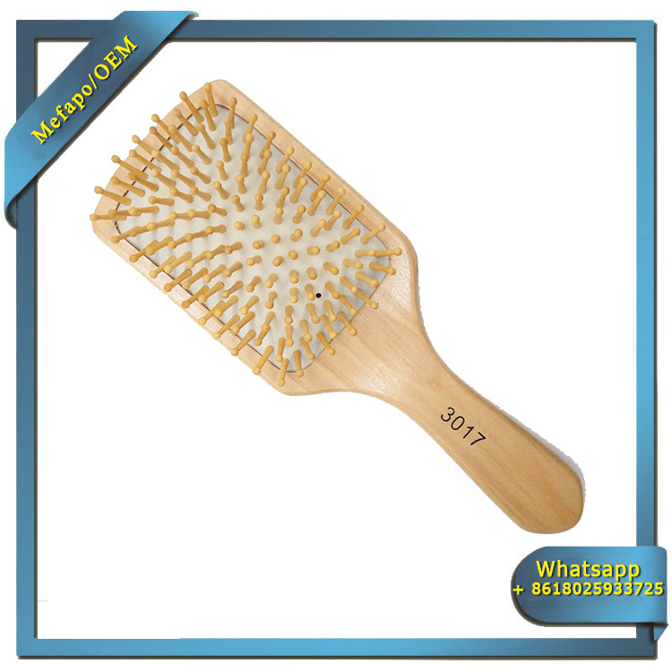 Wooden Hairbrushes Wholesale / Natural Bristle Wooden Hair Brush