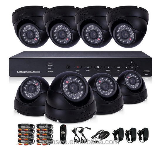 Security Outdoor / Indoor HD-SDI 8 Channel DVR Surveillance System with 6 x HD 1080P Varifocal Zoom SDI Security Camera