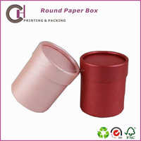 Beautiful gift jewelry packaging box with round top and bottom