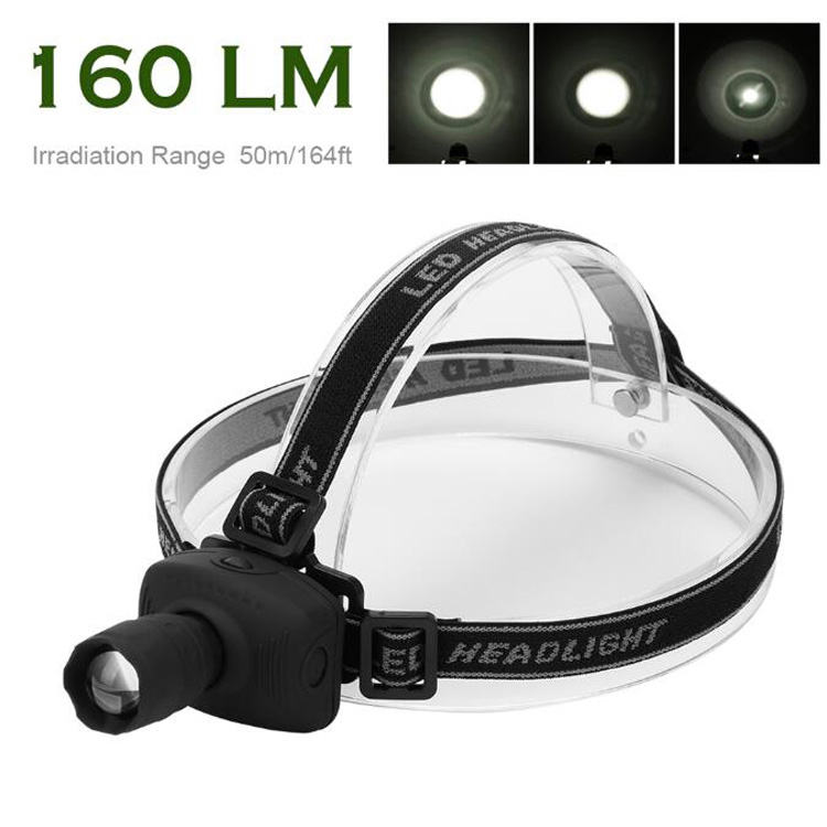3 mode black CREE Q5 led headlamp Head torch flashlight Plastic zoomable high power cree led headlamp