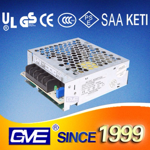 GVE GM-60W enclosed power supply switching 12v dc power supply