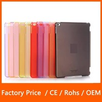 2015 Hot Popular PU Leather Smart Cover And Crystal Clear PC Case For iPad Mini