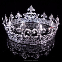 Full Round Metal King Crown Decorations, Man Crown Jewelry