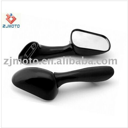 ZJM6025 Motorcycle Mirrors FOR 1991-1999 CBR 600 1000 VFR 750 800, Jet Black Racing Mirrors