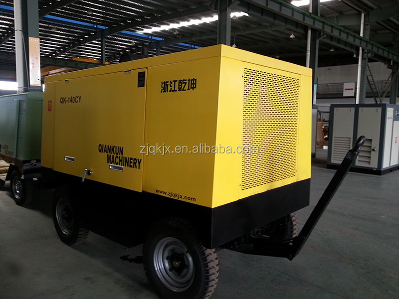 Portable pot screw air compressor for sandblasting