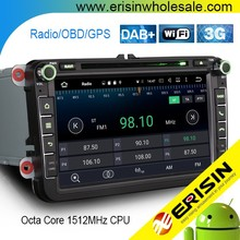 "Erisin ES6405V 8"" Passat Seat Leon Android 6.0 Car DVD Player GPS System"