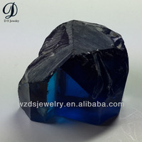 Synthetic gemstone raw tanzanite blue gemstone rough gems