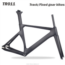 Miracle new Track bike T700 toray carbon bike frame 700*25C Max tire fit 1.5'' Taper Full carbon head tube Fixed gear bicycle