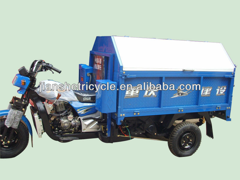 China garbage tricycle/motorized tricycles for adults