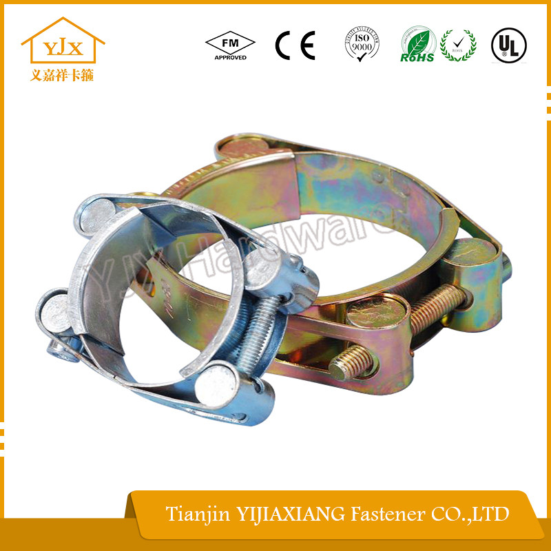 complete specifications double bolt double band hose clamp with all kinds