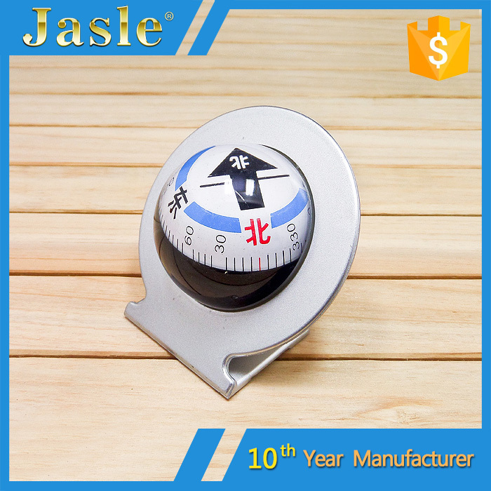 Adjustable Angle Compact Car Compass with Adhesive Mount