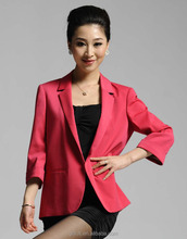 2014 new style fashion red color slim fit half sleeve suit jackets women
