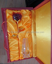 Crystal gifts & crafts artificial 24k golden rose,wholesale, wedding gifts, for Valentine's Day
