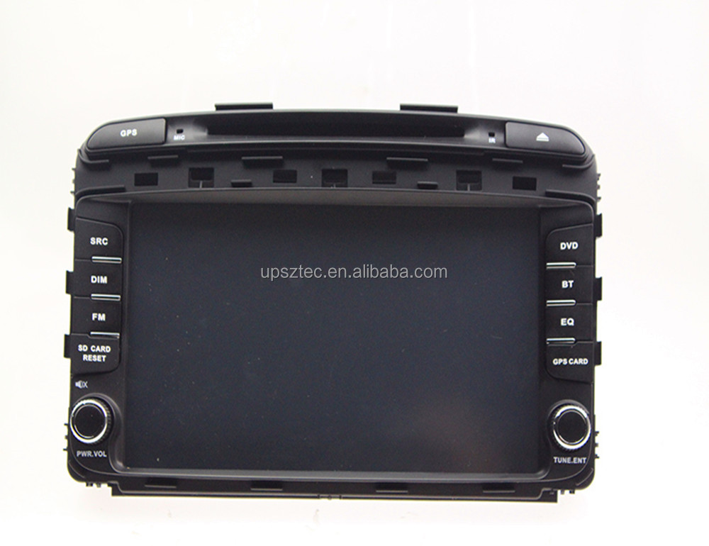 "Wince 6.0 Two DIN 9""LCD-TFT touch screen with gps navigation cheap car DVD Mp3/Mp4/Mp5 player for Kia Sorento 2015"